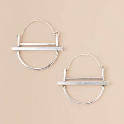 Refined Earring Collection - Saturn Hoop