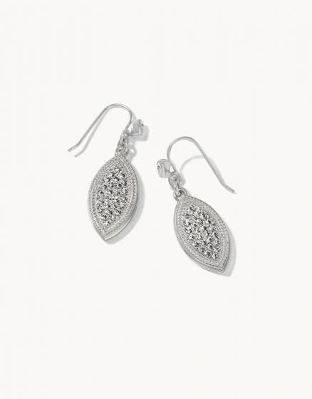 Petite Pave Petal Earrings