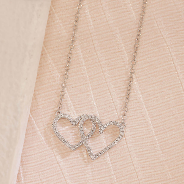 Full Heart Diamond Necklace