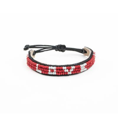 Red Beaded Love Bracelet