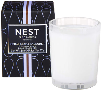 Nest Cedar Leaf and Lavender Votive Candle