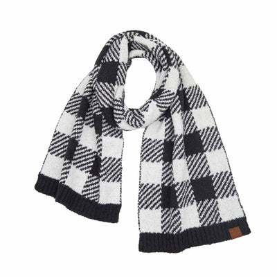 C.C. Buffalo Check Plaid Scarf