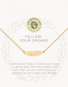 Spartina 449 Sea La Vie Follow Your Dreams/Feather Necklace