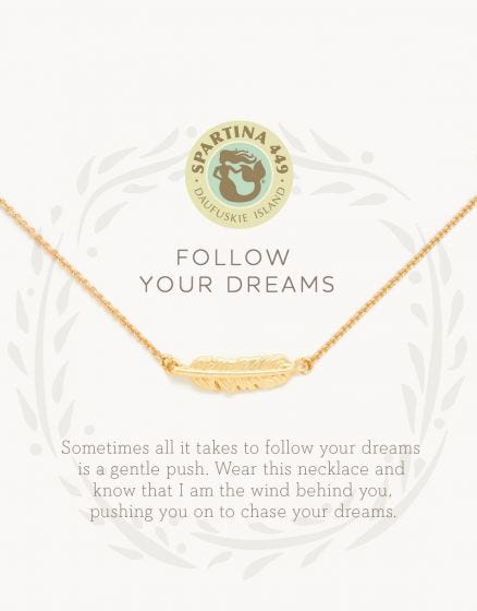 Follow Your Dreams Feather Necklace
