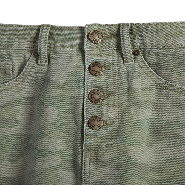 Windsor Camo Button-fly Skirt