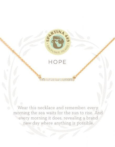 Hope Horizon Bar Necklace