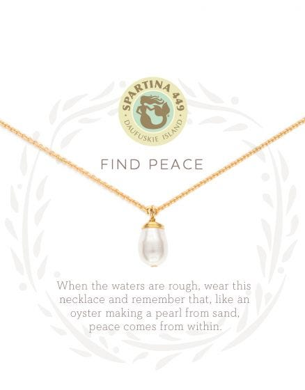 Find Peace Pearl Necklace