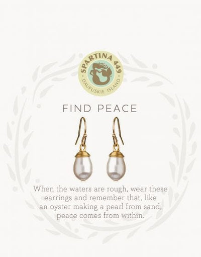 Sea La Vie Find Peace Drop Earrings