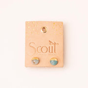 Scout Curated Wears Dipped Stone Stud Earring - Labradorite/Silver