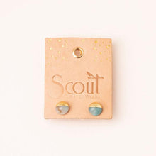 Scout Curated Wears Dipped Stone Stud Earring - Howlite/Gold