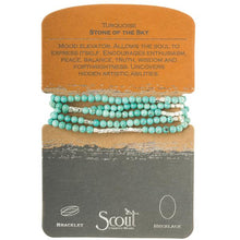 Scout Curated Wears Stone Wrap- Turquoise/Silver