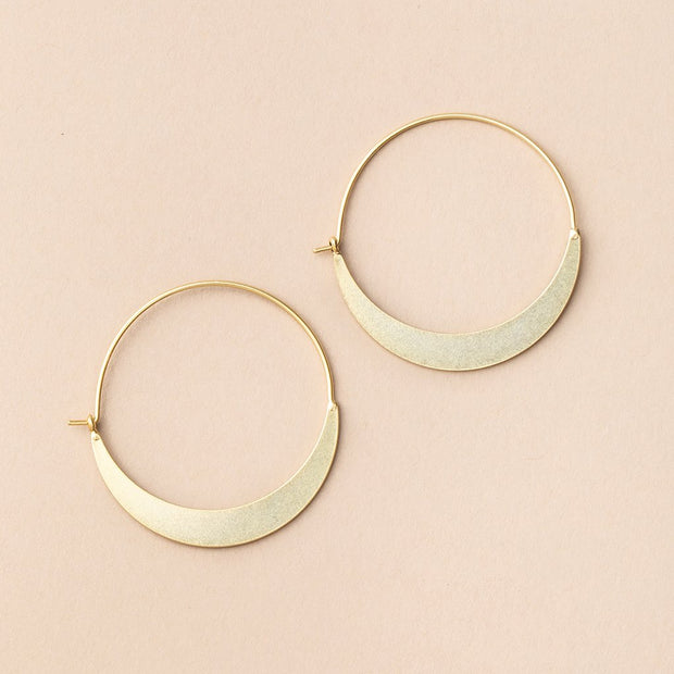 Refined Earring Collection - Crescent Moon Hoop