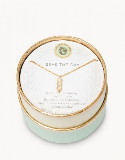 Seas The Day Triple Opalescent Necklace
