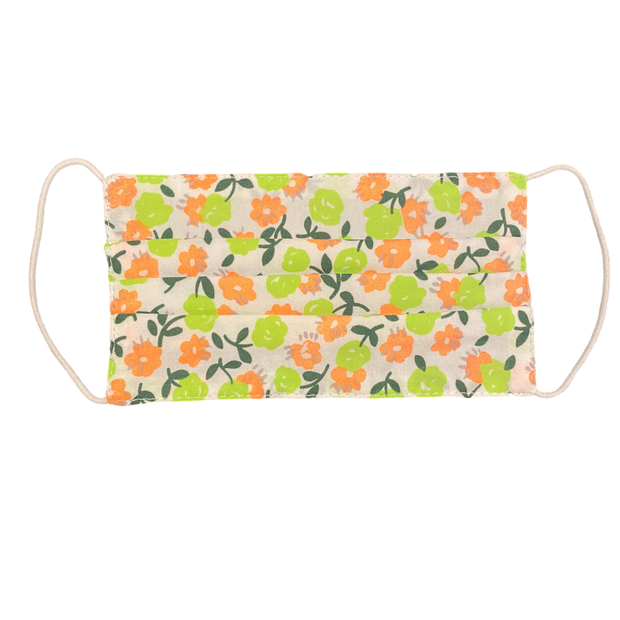 Lime Floral Kids Mask
