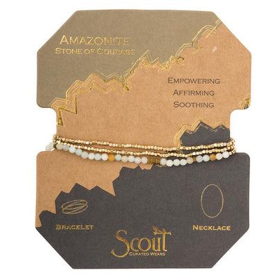 Scout Curated Wears Delicate Stone Wrap- Amazonite