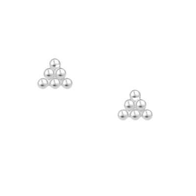 Pyramid Ball Stud Earrings