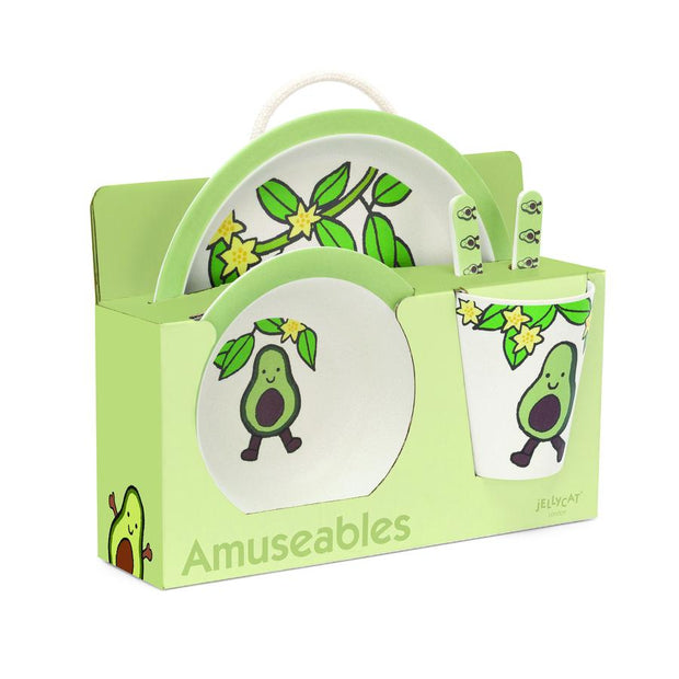Jelly Amuseable Avocado Bamboo Set