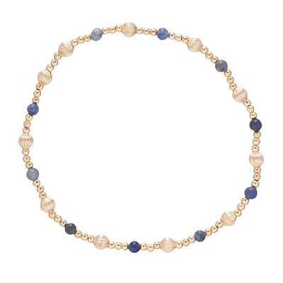 Dignity Sincerity Pattern 4mm Bead Bracelet - Sodalite