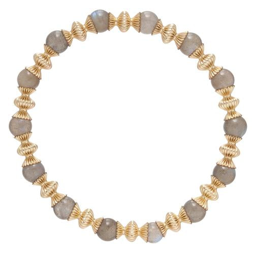 Loyalty Gold 6mm Bead Bracelet - Labradorite
