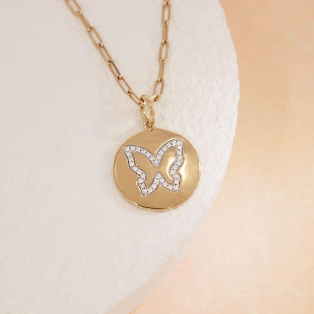 Butterfly Kisses Diamond Necklace