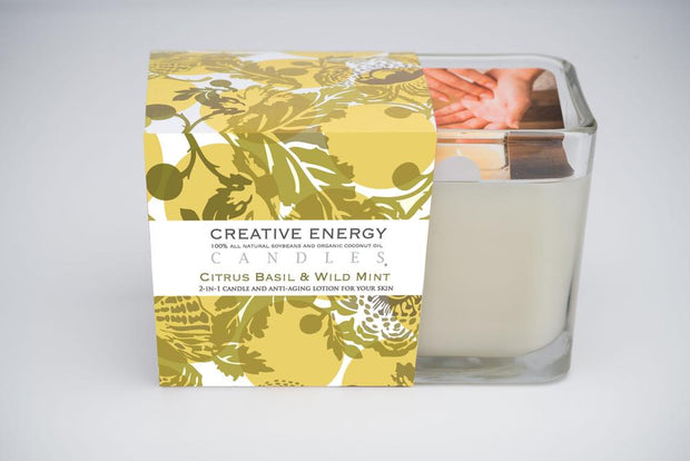 Citrus Basil & Wild Mint Soy Lotion Candle