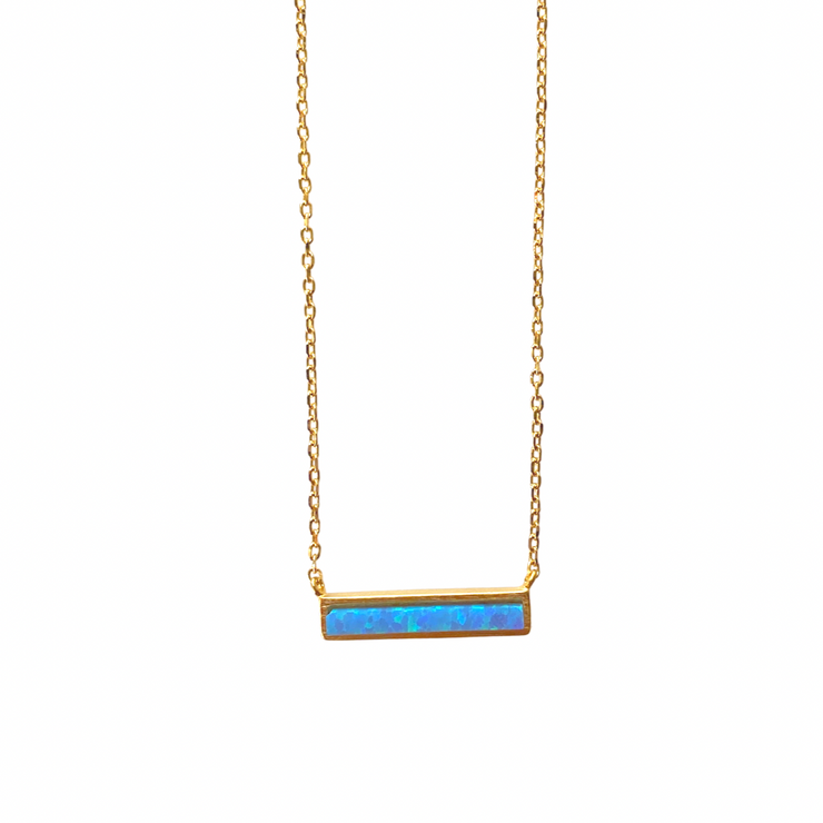 Shine Bright Opal Bar Necklace