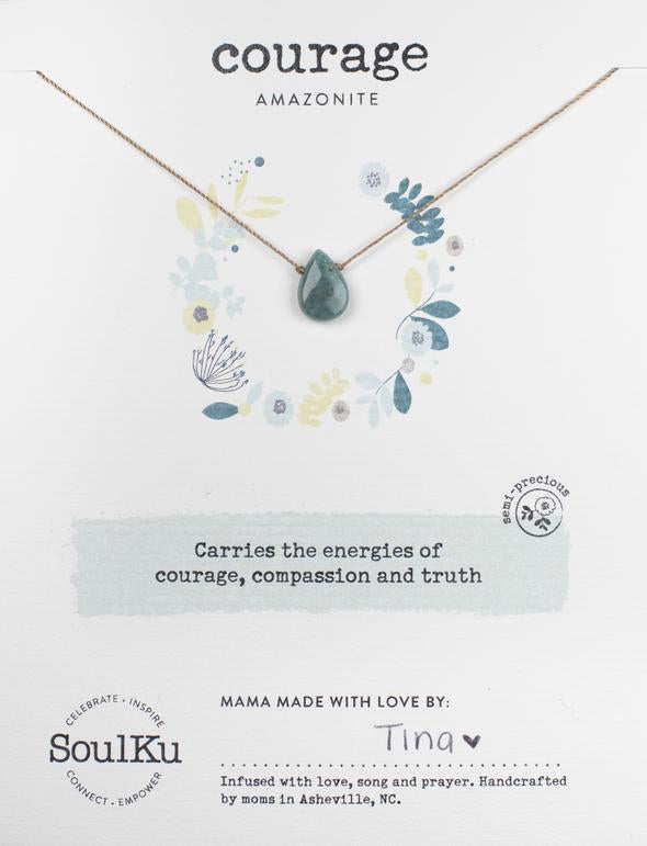 Soulku Amazonite Necklace for Courage