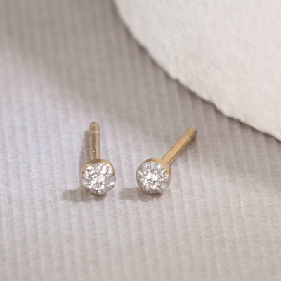 Simple Stud Diamond Earrings