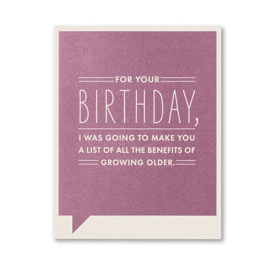 """For Your Birthday"" Funny Birthday Card"
