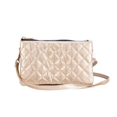 Carson Crossbody Bag Quilted Gold