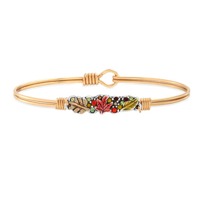 Fall Foliage Medley Bangle Bracelet