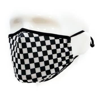Fydelity Indy Black and White Face Mask