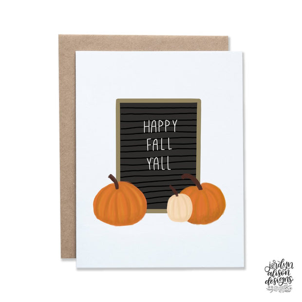 Happy Fall Y'all Letterboard Card