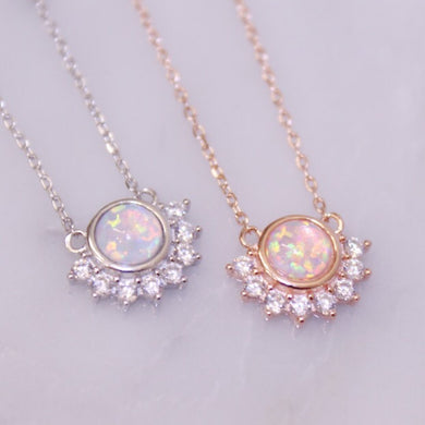 Lois Opal Pendant Necklace