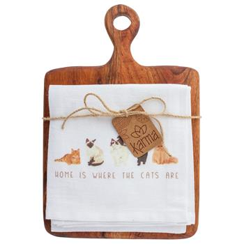Tea Towel & Cutting Board Set