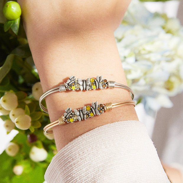 Luca and Danni Butterfly Medley Bangle Bracelet