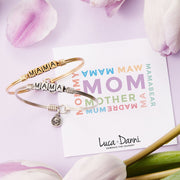 Mama Blocks Bangle Bracelet