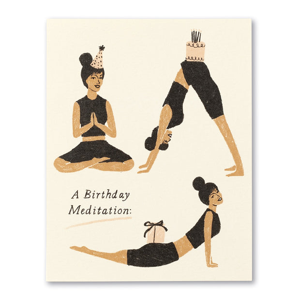 A Birthday Mediation Card