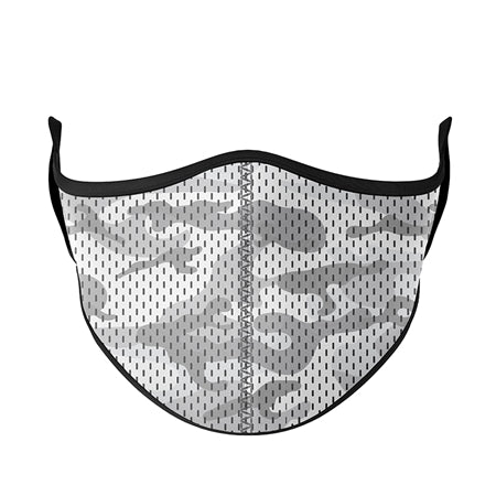 Textured Camo Adjustable Face Mask