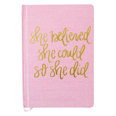 She Believed She Could Fabric Journal