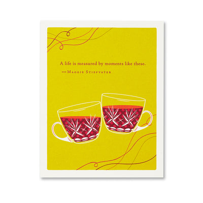 """A Life is Measured By"" Congratulations Card"