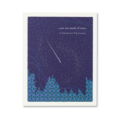 """...You are Made of Stars"" Encouragement Card"