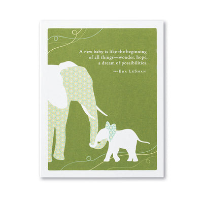 """A New Baby is Like"" Baby Card"