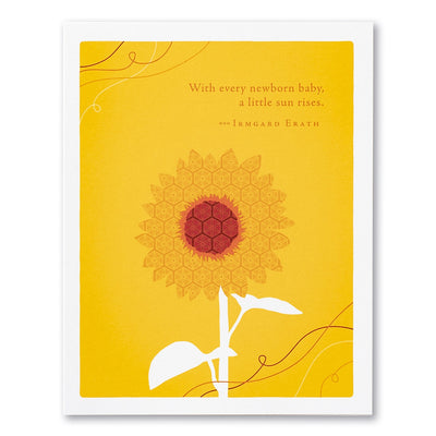 """""""With Every Newborn Baby, A Little Sun Rises"""" Baby Card ..."""