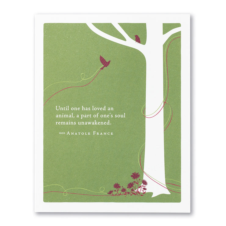 """Until One Has Loved an Animal"" Pet Sympathy Card"