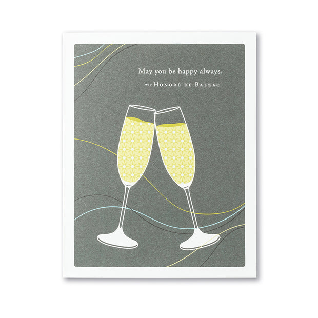 """May You Be Happy Always"" Wedding Card"