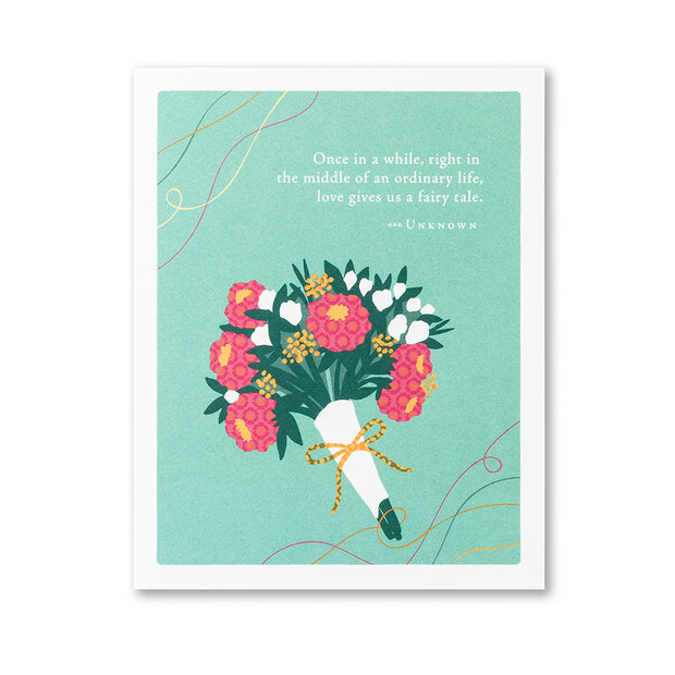 """Once in a While"" Wedding Card"