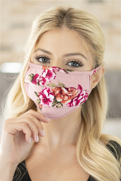 Soft Pleated Patterned Mask