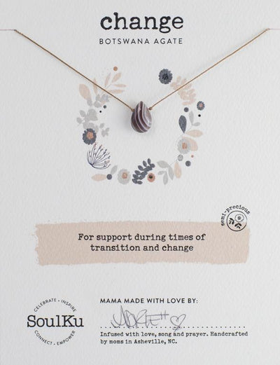 Soulku Botswana Agate Necklace for Change
