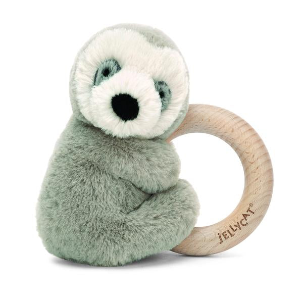 Jellycat Sloth Wooden Ring Toy